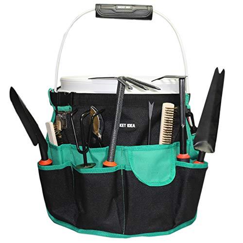 Bucket Idea Bucket Tool Organizer for Garden Tools Fit 3.5 to 5 Gallon Bucket (Green)…