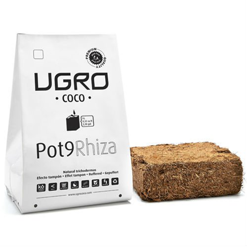 Brique / Bloc de Fibre de coco déshydratée U-Gro Pot9 Rhiza (900g-9L)