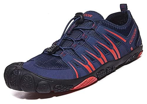 ZKDY Zapatos de Agua Antideslizantes al Aire Libre Secado rápido Zapatos de Playa Suaves Calcetines de Agua Zapatos de Playa (Color : Blue, Size : 44EU)