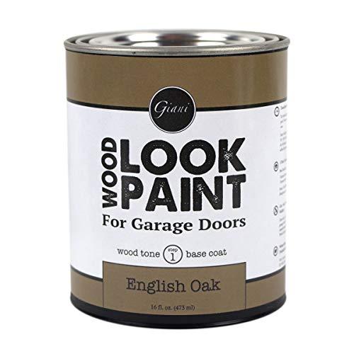 Giani Wood Look Paint for Garage Doors- Step 1 Wood Grain Base Coat Pint (English Oak)