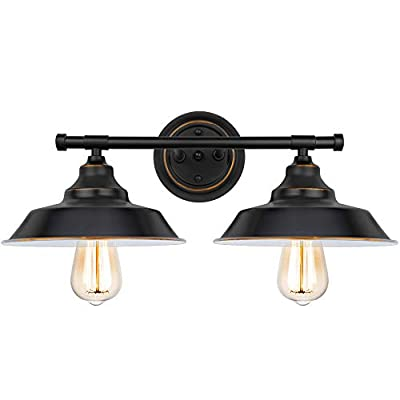 Bathroom Vanity Light 3 Light Wall Sconce Industrial Kitchen Wall Lighting Black Baking Paint with Hightlight