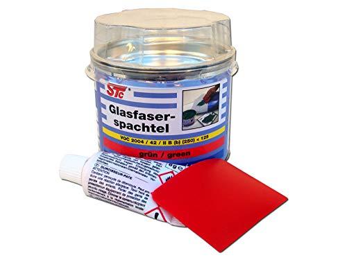 STC 2K Glasfaserspachtel grün Faserspachtel Auto inkl. Härter GFK Spachtelmasse (180 g)