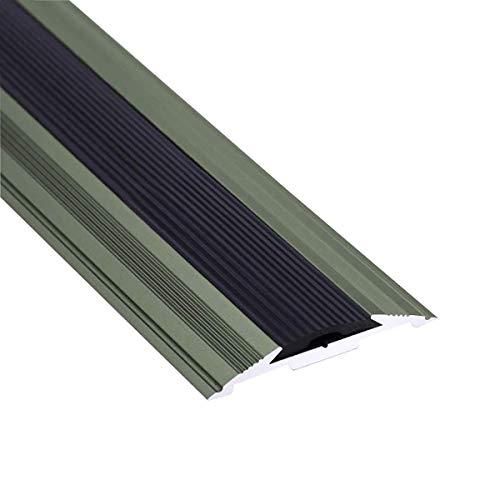 Topshop Borde de Escalera Longitud de la Tira de transición Escaleras de Aluminio Inyección Antideslizante 48x7 mm Perfil Lateral de Paso en ángulo 90 cm / 120 cm