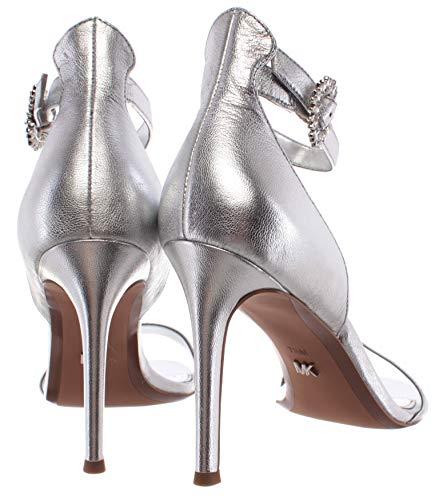 Sandalias Zapato Mujeres Tacon MICHAEL KORS Viola Sandal Metallic Leather Silver