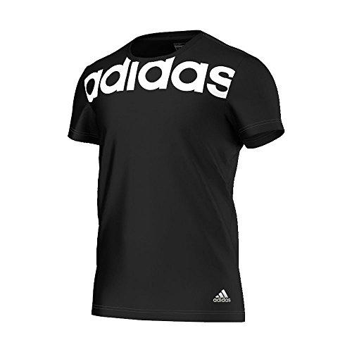 adidas T-Shirt Essentials Linear tee Camiseta, Hombre, Black/White, S