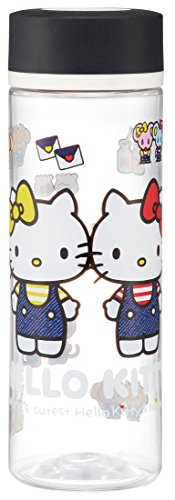 Patinador Recta Botella de Agua Botella de 400 ml de Agua Potable Hello Kitty de Sanrio Denim PDC4