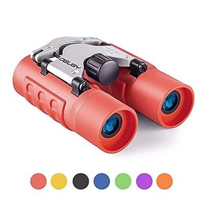 Binoculars for Kids Best Gifts for 3-12 Years Boys Girls 8x21 High-Resolution Real Optics Mini Compact Binocular Toys ShockProof Waterproof Folding Small Telescope for Bird Watching,Travel, Camping
