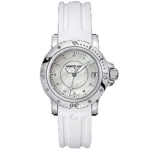 Montblanc Mujer Sport 103893 Reloj de vestir de cuarzo suizo de goma...