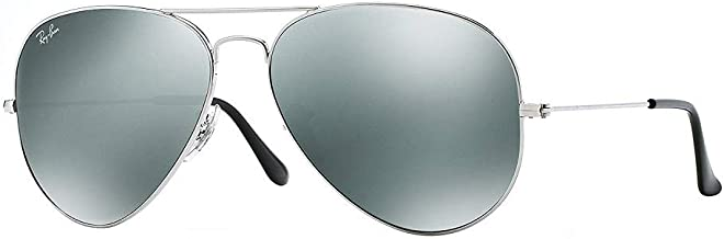 Ray Ban 3025 Aviator RB 3025 003/40 62mm Silver Frame/Full Silver Mirror Large