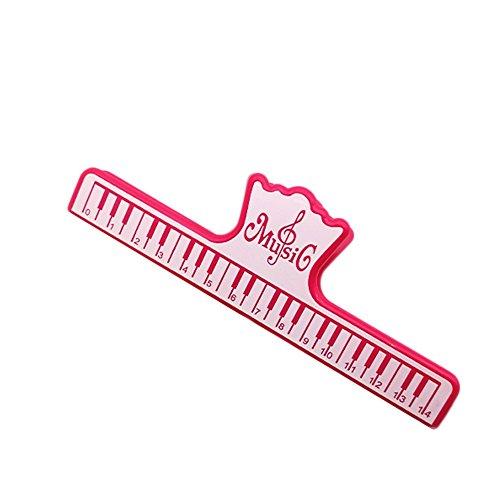 funie Fashion Piano Musik Clip Noten Schreibwaren Dateien Archiv Ordner Instrumental Werkzeug–Grün Einheitsgröße rot