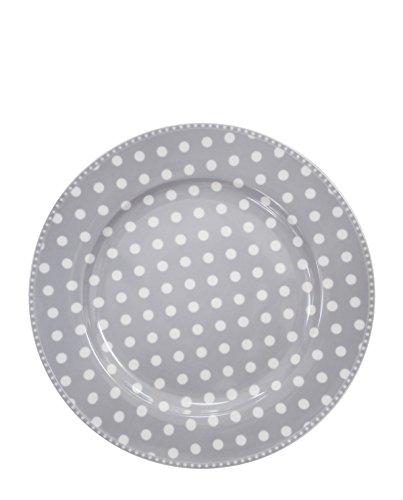 krasilnikoff Happy Speiseteller Dots grey