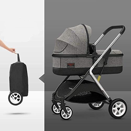 Landaus High View Pram Transport, Poussettes Buggy Compact, Portable bébé Poussette Anti-Choc en Aluminium Poussette Fournitures pour bébé ( Color : Gray )