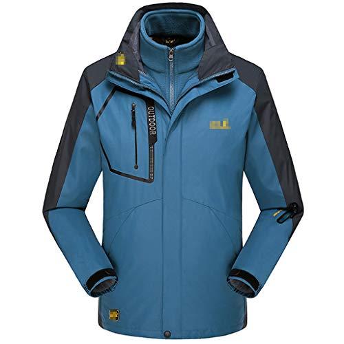 Waart waterdichte jassen voor heren, fietsen, buitenmantel, windjack, skating, afneembare herfst en winterjas, outwear 3-in-1 jas