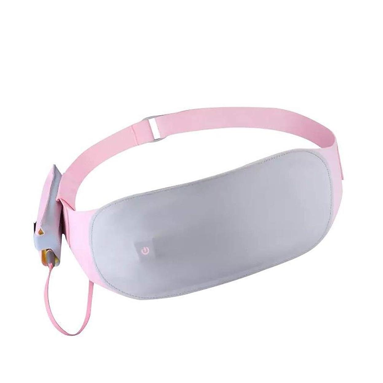 マニュアル元に戻す簡単なポータブルウエスト暖房パッドベルト3ヒートセッティング洗えるのために背中の痛み腹部の胃のけいれんの痛みを軽減するアジャスタブル柔軟なストラップ 腰痛保護バンド (色 : ピンク, サイズ : Free size)