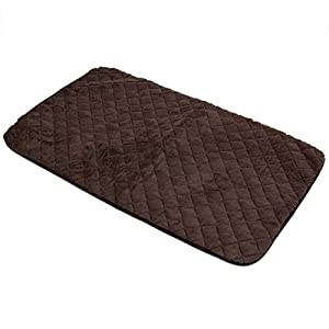 SNOOZZY BROWN 47X28 QUILTED MAT