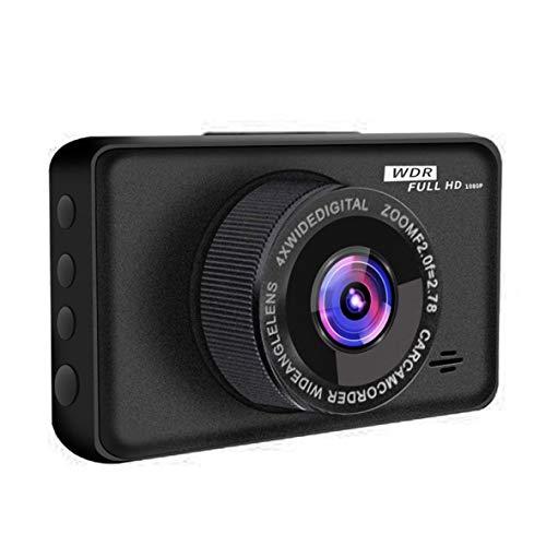 Cosye Lente de grabadora de conducción de 1 Registro de 3,0 Pulgadas Cámara de Coche para vehículos Grabadora de vídeo MI Grabadora de conducción Nocturna