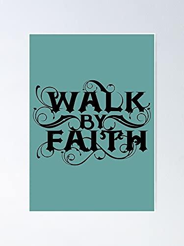 AZSTEEL Walk By Faith Today I Choose Joy - Póster con cita motivacional religiosa de 29,7 x 41,9 cm para amigos y familia