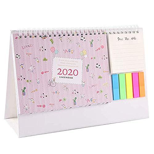 Agosto 2019-dicembre 2020 mini calendario da tavolo per fare la lista calendario giornaliero memo per casa scrivania ornamenti times