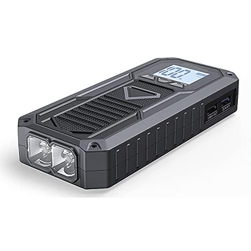 LBYDXD Arrancador de Coches, 8000mAh 12V Litio Car Battery Booster, Cargador de Coche con Pantalla LED, hasta 5.0L Gas o 2.8L Diesel Engine, Linterna Led Puertos USB