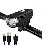 自転車ライト AmzAre LEDヘッドライト 自転車前照灯 自転車ヘッドライト USB充電式 高輝度 サイクリング アウトドア 懐中電灯 自転車 防水 防災 フロント用