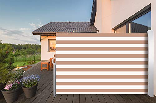 CCLIFE Toldo Lateral Anti-UV Marquesina Lateral Separador retráctil terraza protección 3 tamaño