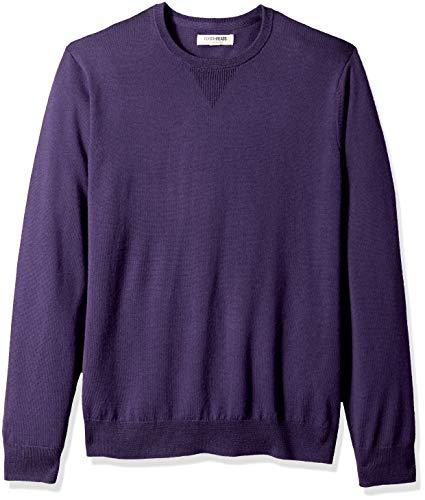 Amazon Brand - Goodthreads, maglione girocollo da uomo in lana merino, Porpora in tenso, US L (EU L)