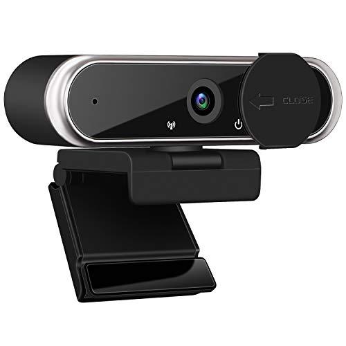 1080P HD Webcam mit Mikrofon Abdeckung, Laptop Desktop Plug and Play USB 3.0 Webkamera mit Datenschutzabdeckung für Live-Streaming Video-Chat Konferenz Aufzeichnung Online-Unterricht Spiele Smart TV