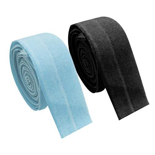 oshhni Cuerda Elástica de Sesgo Plano de 2X 10 M Trenzada para Coser Bricolaje Brazalete de Ropa de Pantalón