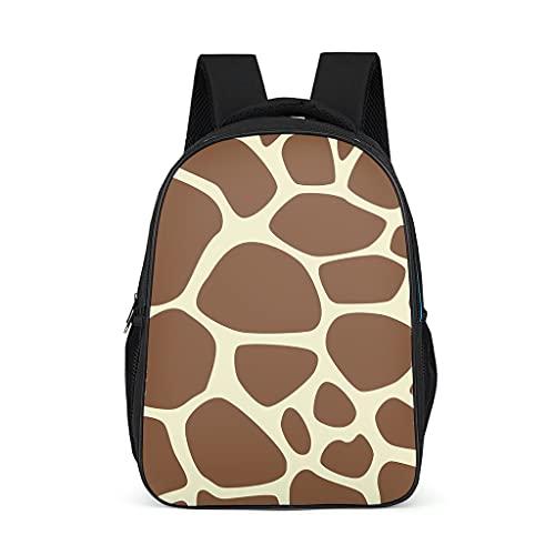 Hinfunees Mochila con textura de jirafa, diseño de camuflaje, mochila vintage para niños para estudiantes y estudiantes, gris brillante., talla única