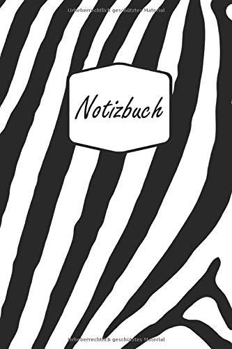 Notizbuch: Zebra - Schwarz und Weiß für kreative Kinder und Jugendliche   Tagebuch (A5   gepunktetes Papier   Soft Cover   100 Seiten)