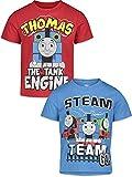 Thomas & Friends Tank Engine Little Boys 2 Pack T-Shirt Red/Blue 5-6