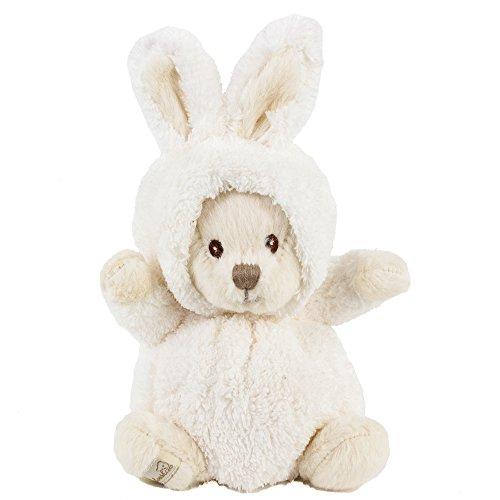 Bukowski Kuscheltier Hase Teddybär Ziggy weiß 15cm, Plüschteddybär Plüschhase