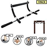 FUTUREPAST Pull Up Bar/Workout Bar/Horizontal Bar/Multiple Exercise Bar/Pull Up & Push Up & Dip & Sit Up. Multi-Gym Home Fitness Equipment Portable Gym System. Doorway Crossfit Sport Gym Equipment.