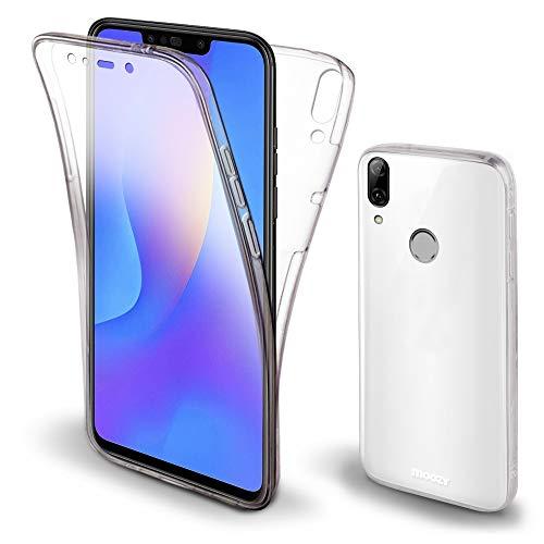 Moozy 360 Grad Hülle für Huawei P Smart Plus 2018 - Vorne & Hinten Transparenter TPU Ultra Dünne Weiche Silikon Handyhülle Hülle