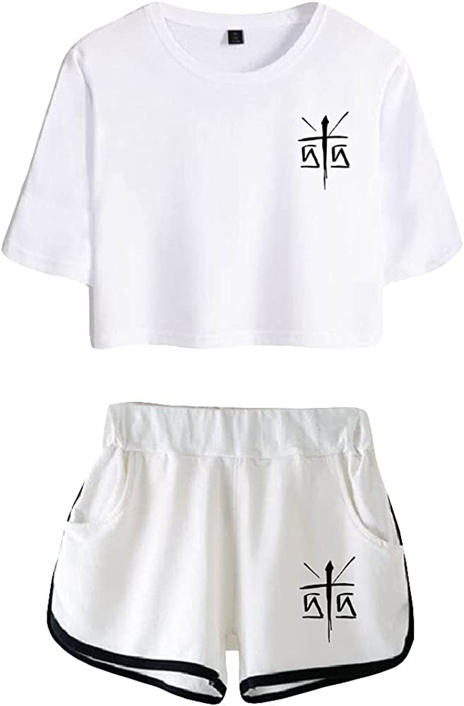Tydres Gera MX 2 Piece Sets Casual Two Piece Suit Woman Girls Short & Tops Suit Singer Short Sleeve (WW-KB03586,XS)