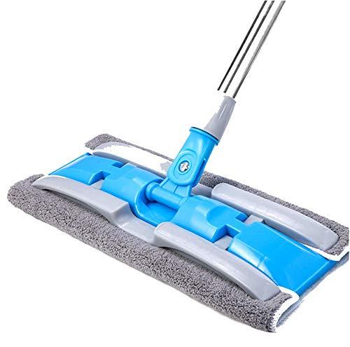 EverNight Flat Mop Roterende Hand Gratis RVS Mop Thuis Luie Houten Vloer Dweilen Artifact Mop Optioneel 5 Doek