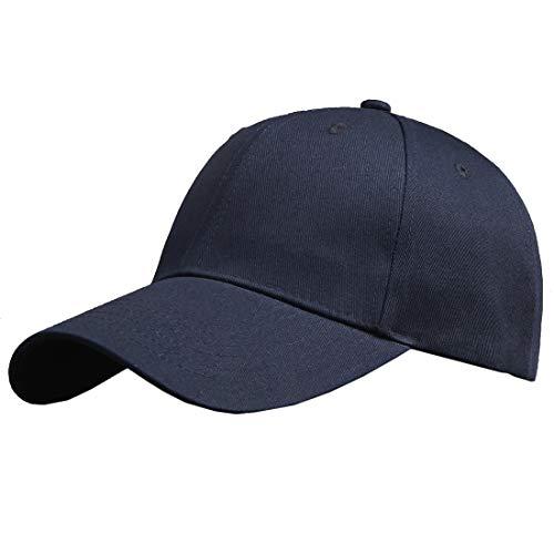 Baumwolle Baseball Cap, Basecap - KeepSa Unisex Baseball Kappen, Baseball Mützen für Draussen, Sport oder auf Reisen - Reine Farbe Baseboard Baseballkappe Kappe, Mütze (Eine Größe einstellbar, Blau)