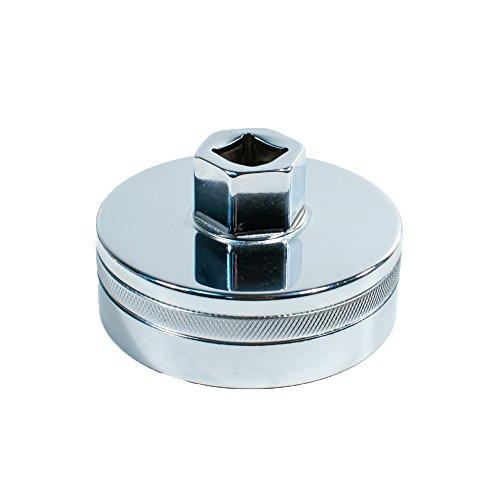 Tool Guy Republic Forged Chrome Vanadium Oil Filter Wrench Socket for Toyota, Lexus, Scion, Type Oil Filter Housings - 64mm 14 Flats