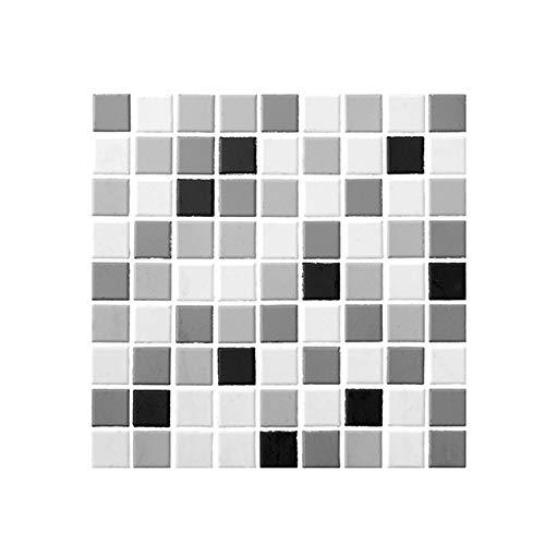 HUSTLE 10Pcs Adesivi per Piastrelle Mosaico 3D Adesivi Murali Mosaico Autoadesivo Impermeabile Adesivi Da Parete per Bagno Cucina Decorazioni per La Casa 30 X30 Cm