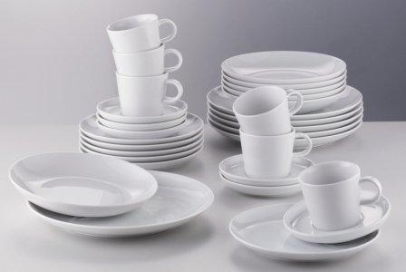 Arzberg Porzellan Geschirrset Cucina Basic Weiß