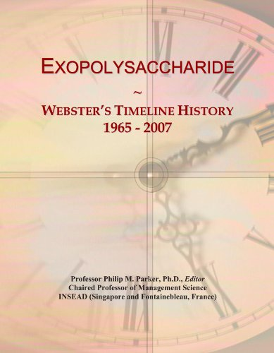Exopolysaccharide: Webster's Timeline History, 1965 - 2007