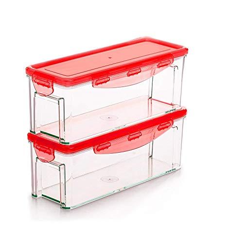 Genius Nicer Dicer Magic Cube Smart (4 Teile) Auffang-Behälter Aufbewahrungs-Box mit Deckel Boxen Aufbewahrung - Ideal zur Aufbewahrung von Obst und Gemüse