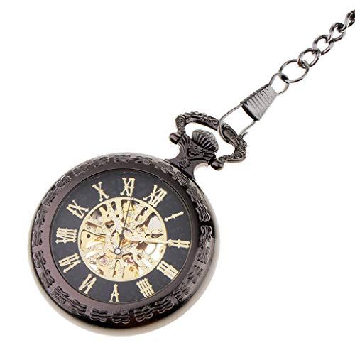 Colcolo Reloj Mecánico de Cuerda Manual con Diseño de Esqueleto Clásico para Hombre con