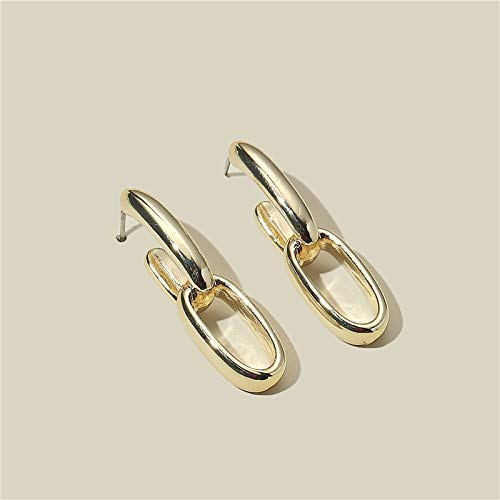 European and American style earrings metal chain earrings female ins high sense temperament plating cold wind earrings S925 silver needle
