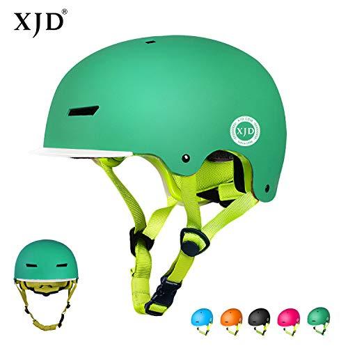 XJD Kinder Sport Fahrradhelm Beschützer 2.0 CE-Zertifizierung für Rollenfahren, Skateboard usw. geeignet für 3-13 Jahre Alt Kinder (Grün S)