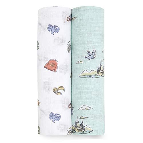 aden + anais essentials 100% Muselina de algodón, Paquete de 2 Mantas de Harry Potter (112 x 112 cm)