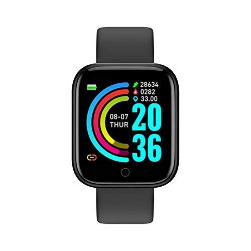 ZNS-B Smartwatch Inteligente Reloj de los Hombres de Las Mujeres, Velocidad de Reloj Inteligente Sport Fitness Tracker for Android iOS Corazón En Stock (Color : Black)