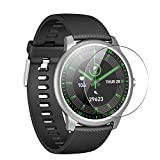 Puccy 3 Pack Tempered Glass Screen Protector Film, compatible with king wear KingWear KW40 Smartwatch smart watch Protectors Guard