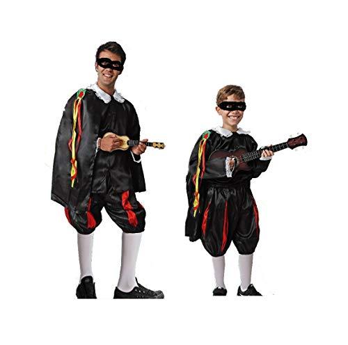 LBA Disfraz de Tuno. Compuesto de Camisa con capa y escarapela, pantaln y cinturn. Varias tallas de nio y Adulto. (Talla nica Adulto)