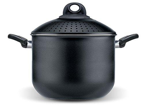 Pensofal Biostone Pentola filtrante, alluminio, nero, 20 cm